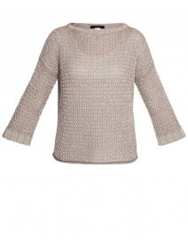 Textured Cotton Sweater | Les Copains