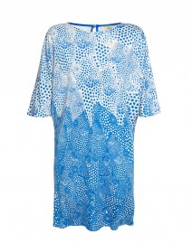 Printed Silk Poncho Dress | Issa