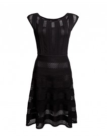 Stretch Knit Lace-Paneled Dress | Issa