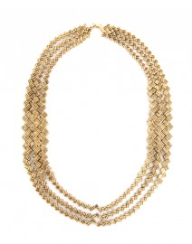 Aurelio Basket Weave Chain Necklace