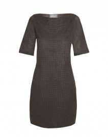 Perforated Eco-Suede and Cotton Dress | Es' Givien