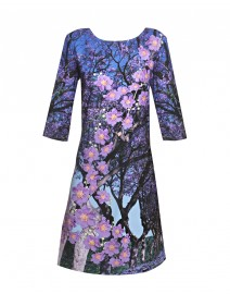 Jacaranda Print Dress | Vanessa G