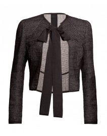 Boucle Face Weave Tie Cropped Jacket | Karolina Zmarlak