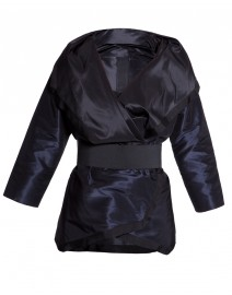 Silk Reversible Wrap Jacket with Belt  | Karolina Zmarlak