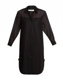 Zelia Cotton Shirtdress with Sheer Paneling  | MaxMara