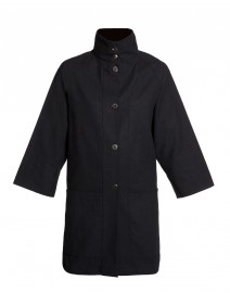 Black Cotton Canvas Jacket | Vitamin Shirts