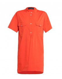 Stretch Cotton Tunic Dress | Piazza Sempione
