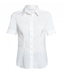 White Stretch Cotton Fitted Shirt | Walter Voulaz