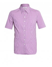 Gingham Stretch Cotton Fitted Shirt | Walter Voulaz
