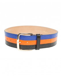 Lepanto Wide Striped Leather Belt | MaxMara