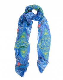 Blue Island Linen and Silk Scarf | Scialle