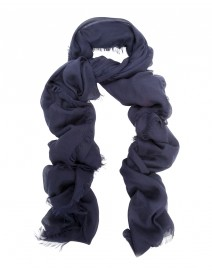 Navy modal and cashmere scarf | Scialle