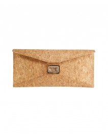 Prunella Gold Cork Clutch | Kara by Kara Ross