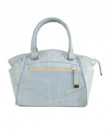 Liv Crocodile Embossed Duffle Bag  | Laura Vela