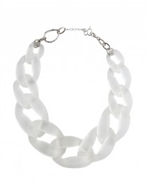 Nate Sanded Transparent Link Necklace | Diana Broussard
