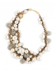 Farida Pearl and Crystal Necklace | Diana Broussard