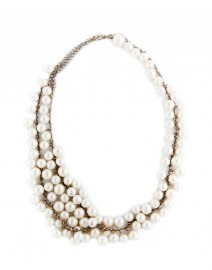 Farida Long Pearl Necklace | Diana Broussard
