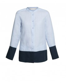 Zarda Color-Blocked Linen Shirt | MaxMara
