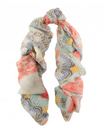 Natural Island Linen and Silk Scarf | Scialle