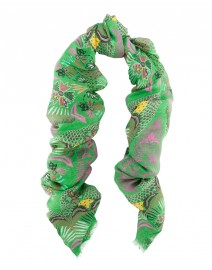 Green Island Linen and Silk Scarf | Scialle
