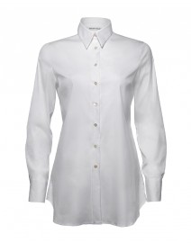 Stretch Cotton Poplin Tunic | Walter Voulaz