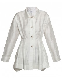 Silk Dupioni Pintucked Tunic | Vitamin Shirts