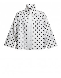 Polka Dot Cotton Canvas Swing Jacket | Vitamin Shirts
