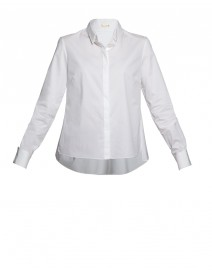 Sandie Stretch Poplin Swing Blouse | Elie Tahari
