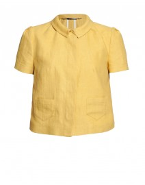 Linen and Cotton Short-Sleeve Jacket | Les Copains