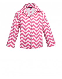 Chevron Striped Cotton Canvas Swing Jacket | Vitamin Shirts