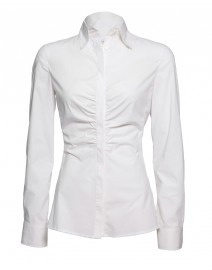 Stretch Cotton Ruched Shirt | Armani Collezioni
