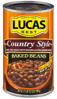 Lucas Original Baked Beans - 55oz
