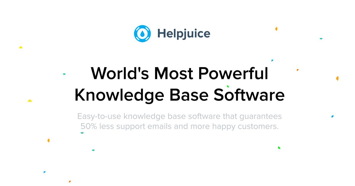Helpjuice - Knowledge Base Software