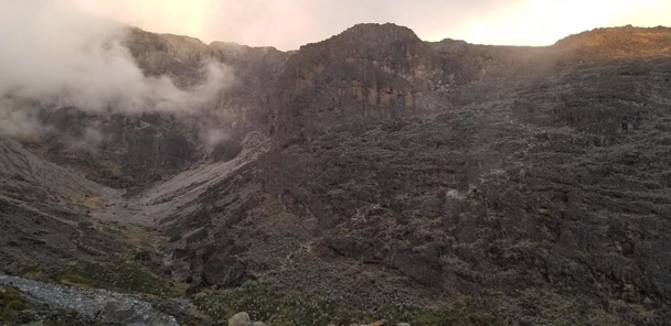 First view of Barranco Wall