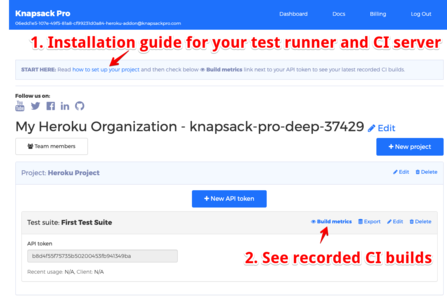 Knapsack Pro Dashboard