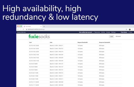 High availability, high redundancy and low latency