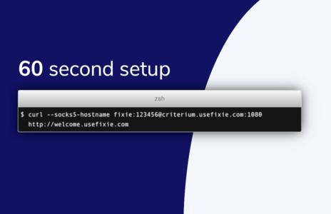 60 second setup