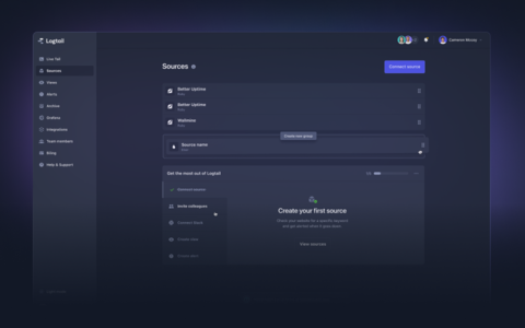 A modern dashboard that is a delight to use