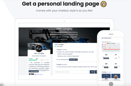 Get a personal landing page