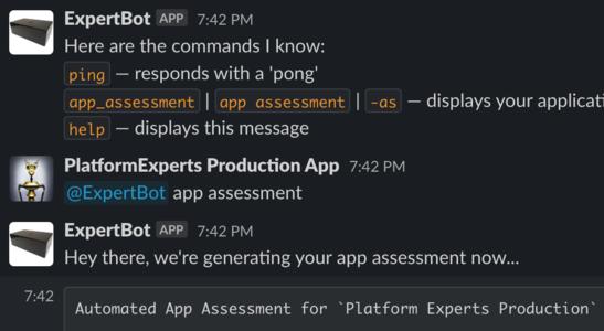 Slack bot interaction