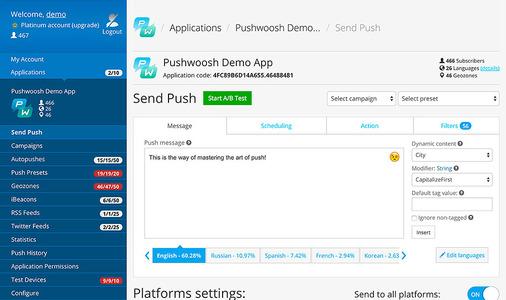 Pushwoosh - Add-ons - Heroku Elements