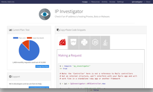IP Investigator - Add-ons - Heroku Elements