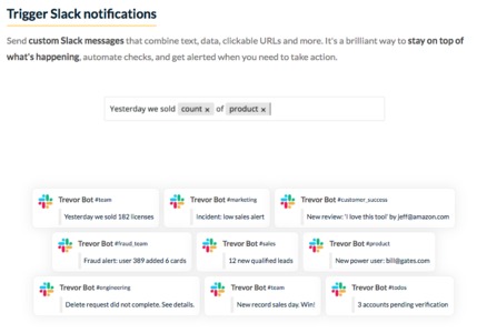 Set up Slack alerts from database data