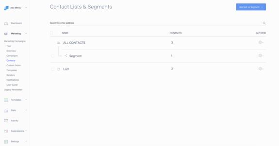 SendGrid Marketing Campaigns - Add-ons - Heroku Elements