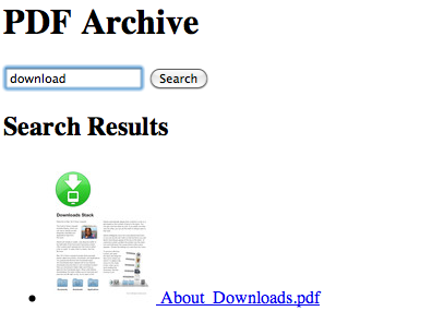 PDF Archiver screenshot