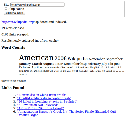 Web Words screenshot