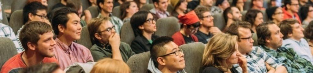Audience in cinema by John Barduhn