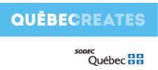 logoSingle : Logo Quebecreates SODEC : 225 x 100