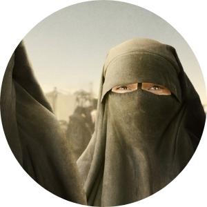 Woman in a burka