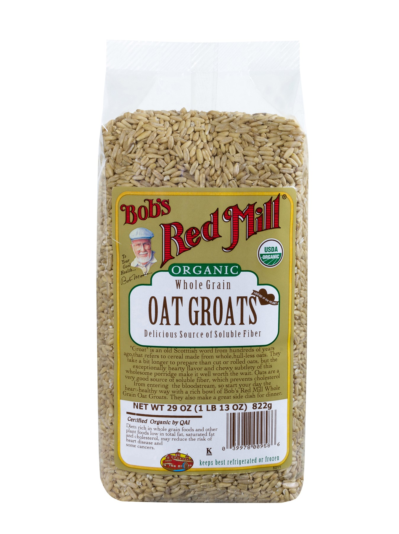 Bob's Red Mill Organic Oat Groats